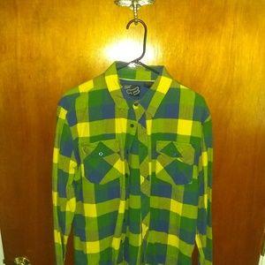 Fox men's flannel shirt sz Large